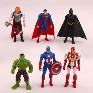 6pcs Super Hero Action Figures