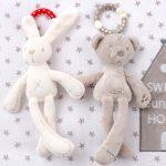 Baby/Infant Rabbit Bunny/Teddy Bear Crib Stroller Plush Toy