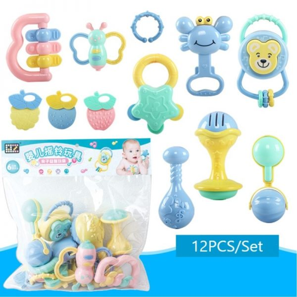 12pcs Baby Rattle/Teether/Shaker Rattle Set