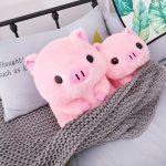Pink Big Head Sitting Pig Plushie