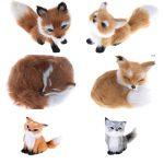 Cute Realistic Sleeping Fox Plush Toy