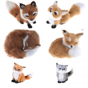 Cute Realistic Sleeping Fox Plush Toy