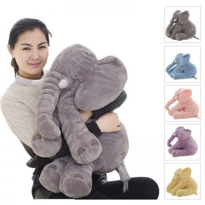 Soft Pillow Sleeping Elephant Plush Toy