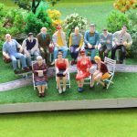 100pcs Painted Model People