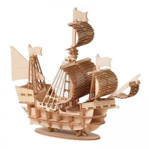 Children DIY Wooden Puzzle Model Sailing Ship