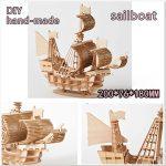 Children DIY Wooden Puzzle Model Sailing Ship