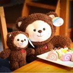 Cute Plush Bear Family
