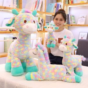 Cute Colorful Deer and Giraffe Plush Toy