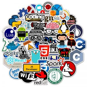 50pcs Geek Programmer Stickers