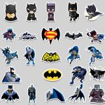 45pcs Super Hero Stickers