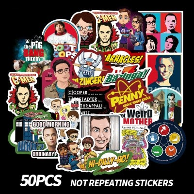 50pcs The Big Bang Theory Stickers