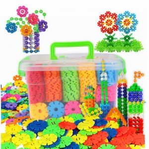 100pcs Multicolor Snowflake Construction Toy