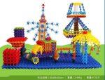 100pcs Multicolor Snowflake Construction Toy