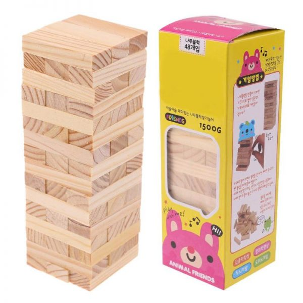 48pcs Wooden Building/Stacking Toy