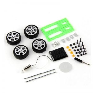1pc DIY Mini Solar Powered  Car Toy