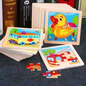 Mini Kids Wooden 3D Jigsaw Puzzle