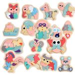 Children's Miniature Wooden Colorful Puzzles