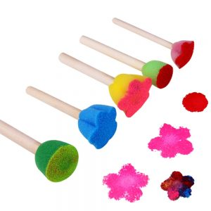 5pcs Wooden DIY Painting Sponge Brush