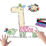 8 Pattern Set Kids DIY Finger Painting
