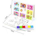 8 Pattern Set Kids DIY Finger Painting