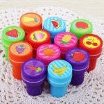 6pcs Self-ink Cartoon Rubber Stamps