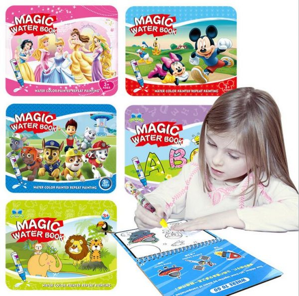 Reusable Magic Water Painting Book