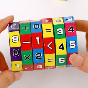 Slide Mathematics Puzzle Cube
