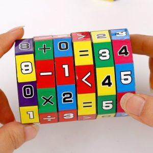 Slide Mathematics Puzzle Cube
