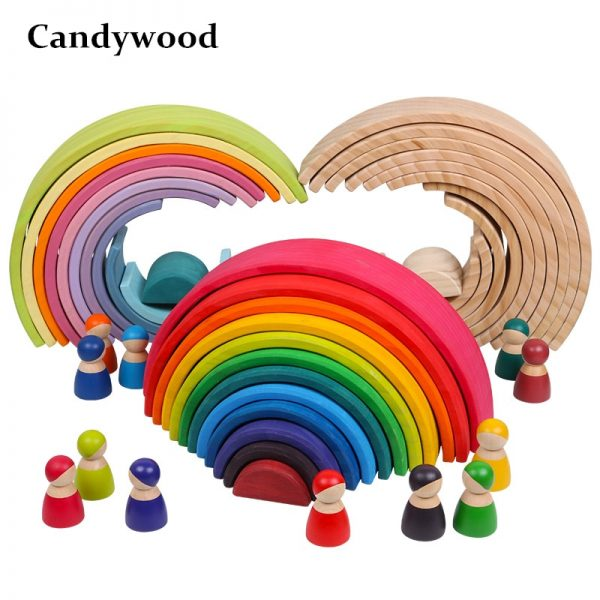 Large Wooden Rainbow Stackers