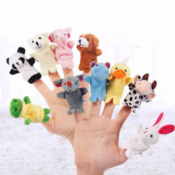10pcs Cartoon Animal Finger Puppets