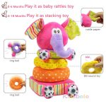 Soft Plush Stacking Elephant