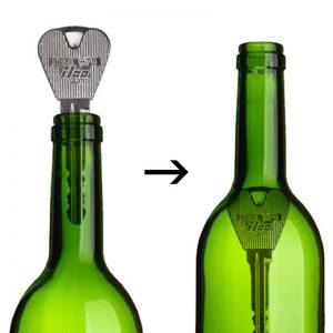 2pcs Folding Key Thru Bottle/Ring Penetration Magic Tricks