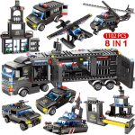 1122pcs 8 in 1 SWAT City Police Building Blocks