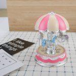 Mini Plastic Carousel Music Box