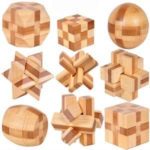 IQ Wooden Brain Teaser Kong Ming Lock 3D