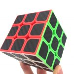 3x3x3 Smooth Carbon Sticker Speed Cube