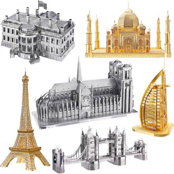 DIY 3D Metal Puzzle World Famous Buildings