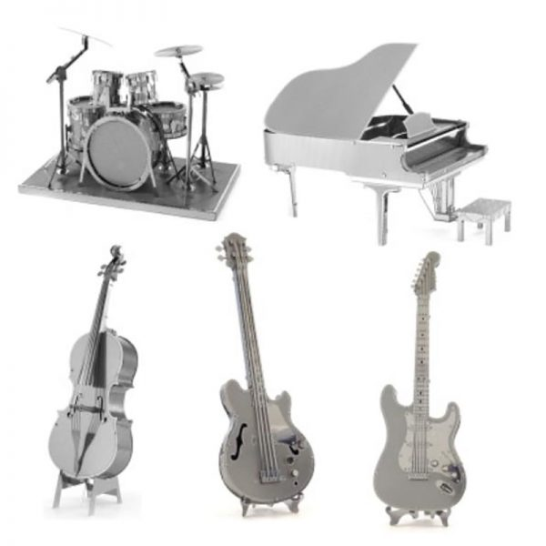 DIY 3D Metal Assembly Musical Model Instruments