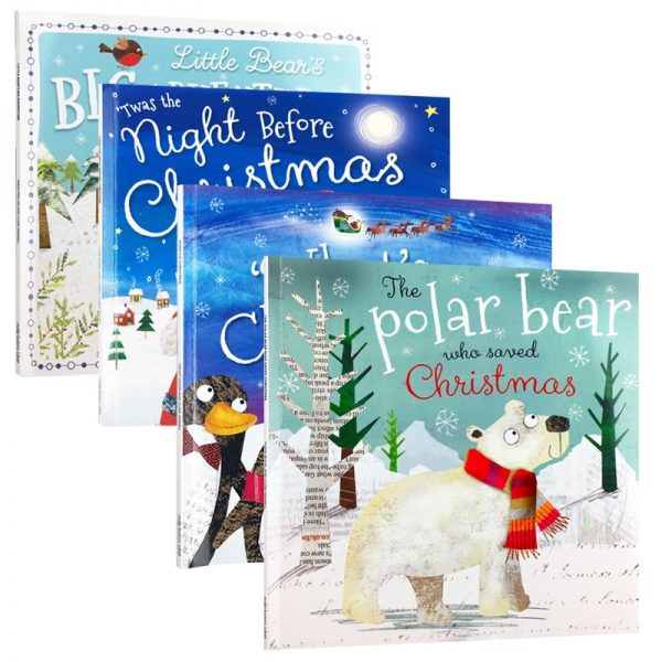 4pcs/set My Christmas English Story Book