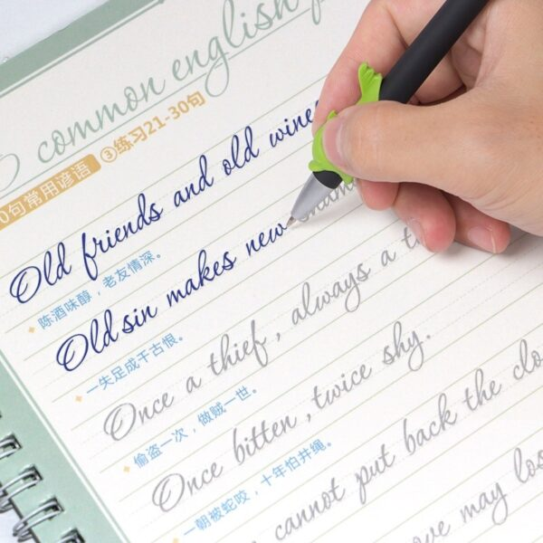 English Calligraphy Italic Handwriting Practice Book