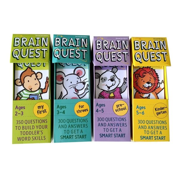 Brain Quest Intellectual Development Card Sticker Books