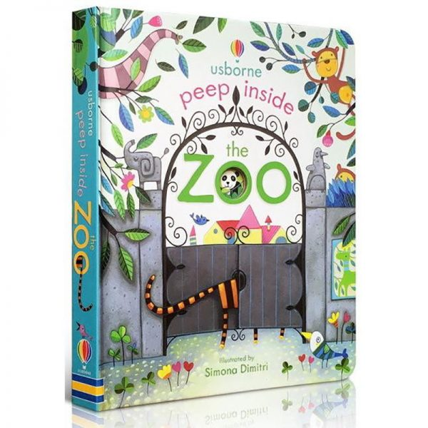 Usborne Peep Inside The Zoo 3D Flap Picture Book