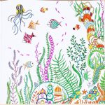 1pc 24 Pages Lost Ocean Coloring Book