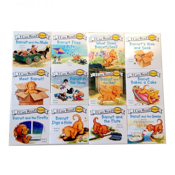 24pcs/set I Can Read Biscuit Series Children Story Book