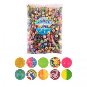 100pcs/set Fun Filled Solid Rubber Balls