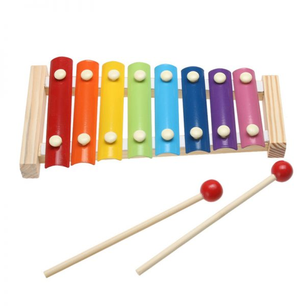 Music Instrument Wooden Frame Xylophone with 2 Mallets