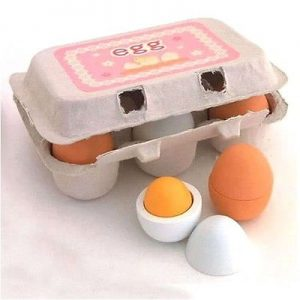 6pcs Kitchen Pretend Play Egg Carton