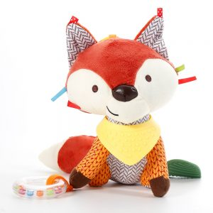 Cute Baby Fox Rattle Toy