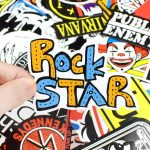 100pcs Rock Band Retro Stickers