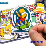50pcs The Simpsons Mixed Creative Stickers